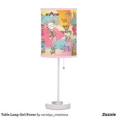 Table Lamp Girl Power