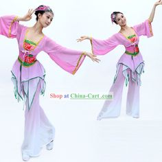 Chinese Classical Dance Costumes and Headpiece for Women