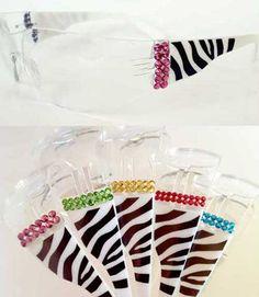 Zebra Print Glasses - Rhinestone Trim!