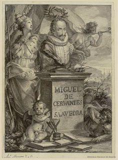 [Retrato de Cervantes]. Ximeno y Planes, Rafael 1759-1825 — Dibujo — 1780