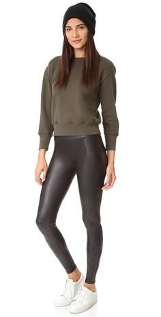 b6ee5a5bf7cb8 SPANX Faux Leather Leggings | SHOPBOP Spanx Faux Leather Leggings, Spandex,  Fabric, Coat