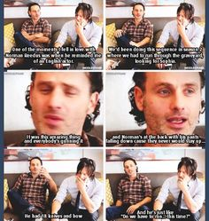 Andrew Lincoln and Norman Reedus interview
