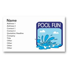 16 Best Swimming Pool Business Cards Images Pools Swiming Pool