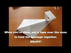 How to make a VERY simple ground effect vehicle (WIG) paper-plane style - YouTube