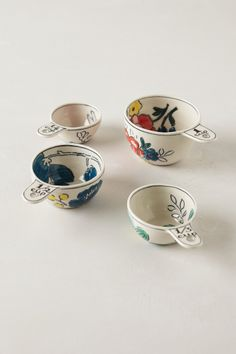 Garden Sketch Measuring Cups $34 - anthropologie.com