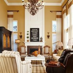 Living Room 2 stories Design Ideas, Pictures, Remodel and Decor