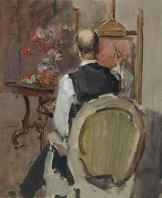 Artwork by Isaac Israëls, Marius Bauer in the studio of Isaac Israels, 1919 Made of oil on canvas