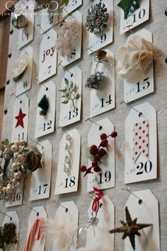 free christmas countdown tags & ideas for embellishments