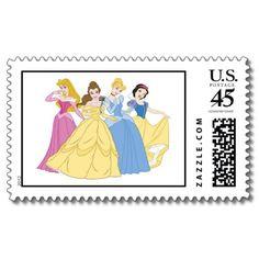 Disney Princesses Postage Stamps #disney