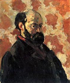 Paul Cezanne, Zelfportret voor vaalrode achtergrond (ca. 1875)