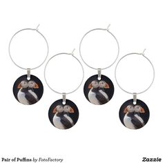 Pair of Puffins Wine Charm