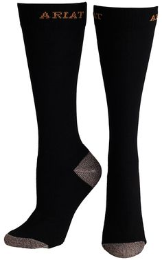 Ariat® Men's Black Heavy Duty Sport Socks | Cavender's