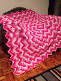 Drop In The Pond Crochet blanket