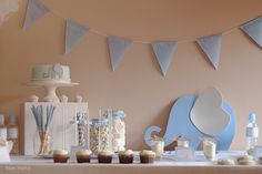 Nice Party events Blue elephant first birthday party … Elephant First Birthday, Elephant Party, Elephant Theme, Elephant Baby Showers, Boy First Birthday, Baby Elephant, First Birthday Parties, First Birthdays, Birthday Ideas