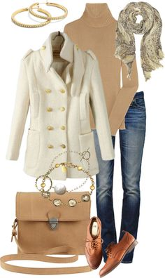 """Camel and Winter White"" by simple-wardrobe on Polyvore"