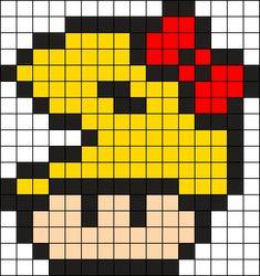 Ms Pacman Mushroom Perler Bead Pattern / Bead Sprite