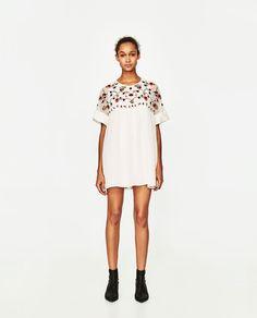 ffc52eb54e4e ZARA - WOMAN - EMBROIDERED JUMPSUIT DRESS Mono Zara