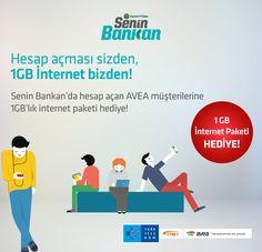 Hesap açması sizden, 1GB internet bizden!