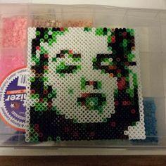 Marilyn Monroe perler bead art by livingcoloredducttape Pearler Beads, Fuse Beads, Pixel Beads, Arts And Crafts, Diy Crafts, Perler Bead Art, Handmade Beads, Sewing Tutorials, Marilyn Monroe