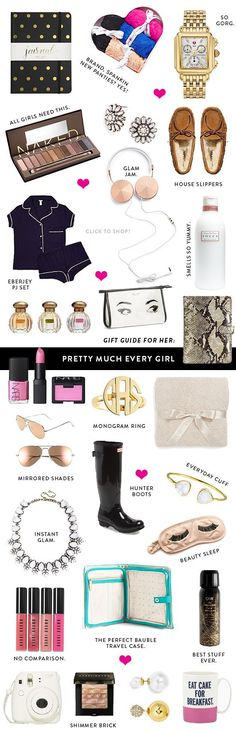 I would pretty much like everything on this list except for the pink nail polish and pink lipstick. ☺️