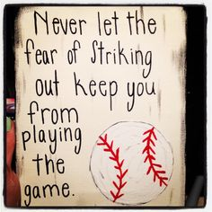 Baseball season craft--like this saying for VBS
