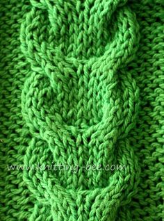 Free link cable knitting stitch pattern.