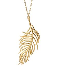Gorjana & Griffin Gold Feather Necklace (larger size)