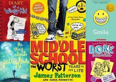 Here are 16 books for kids — ranging from funny to sad to dramatic — that accurately portray the ups and downs of middle school life, and how to survive it.