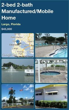2-bed 2-bath Manufactured/Mobile Home in Largo, Florida ►$45,000 #PropertyForSale #RealEstate #Florida http://florida-magic.com/properties/7794-manufactured-mobile-home-for-sale-in-largo-florida-with-2-bedroom-2-bathroom