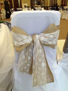 Hessian and lace sash