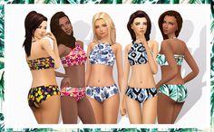 Summertime Bikini Set for TS4 ♥• EA mesh edited by me • 15 top prints • 15 bottom prints • Female teen - elder • Disabled for random • Custom thumbnail • Base game compatible Please read my...