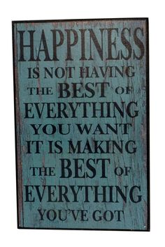 Another great find on 'Happiness' Wall Sign by VIP International Cute Quotes, Words Quotes, Great Quotes, Wise Words, Quotes To Live By, Funny Quotes, Inspirational Quotes, Motivational, Amazing Quotes