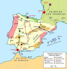 Maps of Spain European History, World History, Art History, Geography Map, Human Geography, Historical Maps, Historical Pictures, History Of Portugal, Map Of Spain
