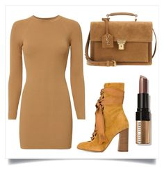 """""""Shades of Brown"""" by samira-rahimova ❤ liked on Polyvore featuring A.L.C., Chloé, Yves Saint Laurent, Bobbi Brown Cosmetics, brown, shades and ShadesOfBrown"""