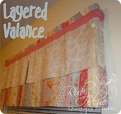 Moda Bake Shop: Layered Valance (jelly roll) #modabakeshop #modafabrics #lovepinwin