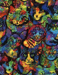 Paint Splatter Cats - Feline Drive