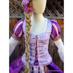 Rapunzel Tangled Romantic Version Adult Custom Costume in your Size ($1,420) ❤ liked on Polyvore featuring costumes, adult halloween costumes and adult costume