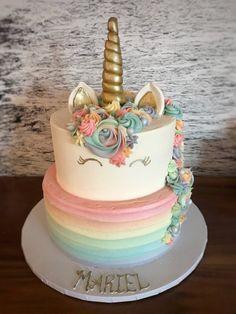 Babys 1st Birthday Unicorn Cake With Coordinating Smash