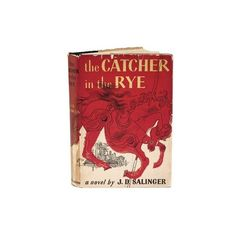 The Catcher in the Rye, first edition found on Polyvore featuring fillers, books, accessories, other and red