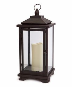 Take a look at this Brown LED Candle & Lantern Set by Melrose on #zulily today!