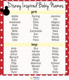 50+ Disney-Inspired Baby Names | Mom of 11 Kids