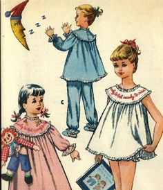 Vintage McCalls Baby Doll Nightie Pattern Girls by TheIDconnection, $22.00