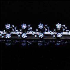 New Fashion 6Pcs Girls Crystal Snowflake Hair Clips Hair Pins Headwear Crystal Accessories Hair Clips