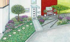 zum nachpflanzen rosenbeet im vorgarten rosenbeet gartengestaltung ideen und bepflanzung. Black Bedroom Furniture Sets. Home Design Ideas