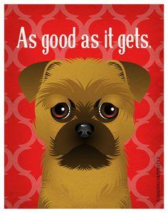 Brussels Griffon Funny Dogs Original Art Print