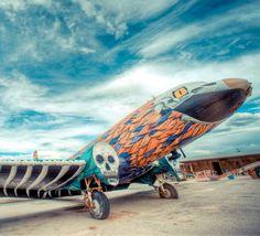The Boneyard Project  NUNCA  Phoenix of Metal, 2011  Spray paint on DC3 airplane