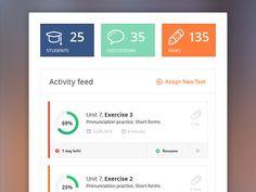 Dribbble - Free Activity feed .PSD by Dawid Młynarz