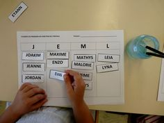 Some activities around the first name in my middle section class: En to … Kindergarten Language Arts, Preschool Kindergarten, Preschool Worksheets, Preschool Activities, Cycle 1, Montessori Art, Petite Section, Letter Recognition, Diy Crafts