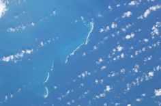 Satellite photo taken from the International Space Station (ISS) of the Seranilla Bank, in the Caribbean sea, disputed by US, Colombia, Nicaragua, Jamaica International Space Station, Caribbean Sea, Jamaica, Photos, Colombia, Negril Jamaica, Pictures, Cake Smash Pictures