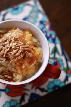 Sweet Cous Cous with Apricot Compote, Honey and Almonds | Wandering Spice